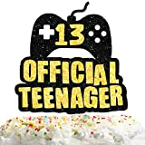 13th Official Teenager Cake Topper Decorations with for Birthday Theme Picks Cheers to 13 Years Old Party Decor Supplies