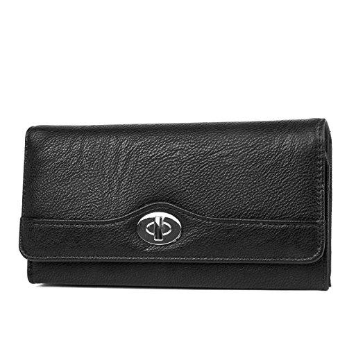 Mundi file Master Womens RFID a portafoglio Organizer con tasca portamonete Black Taglia unica