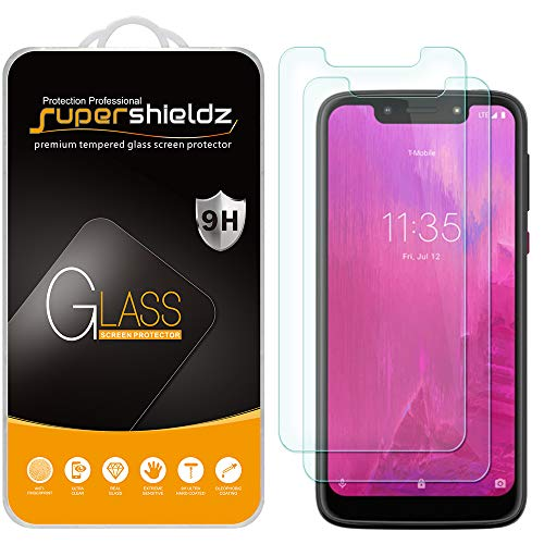 (2 Pack) Supershieldz Designed for T-mobile Revvlry Tempered Glass Screen Protector, Anti Scratch, Bubble Free