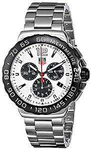 TAG Heuer Men's CAU1111.BA0858 Formula 1 White Dial Chronograph Steel Watch