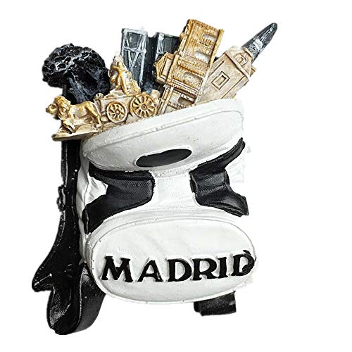 3D Madrid Spain Souvenir Fridge Magnet, Home& Kitchen Decoration Madrid Spain Refrigerator Magnet
