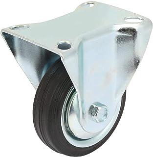 3inch IJzerkern Rubber Zwenkwiel Zwenkwiel Zwenkwiel Vaste zwenkwiel Meubelzwenkwiel voor lichte vrachtwagens