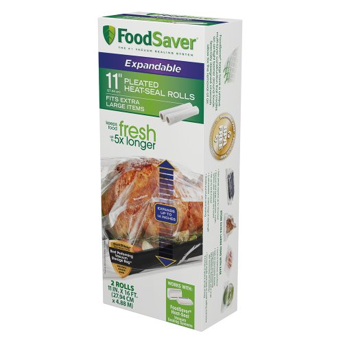 Great Deal! FoodSaver 11 x 16' Expandable Heat-Seal Rolls, 2-Pack