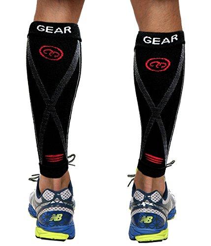 Camari Gear Sports Waden Kompressionsstrümpfe (PAAR) – Calf Sleeves für Männer & Frauen – Wadenbandage für Schnelle Erholung, Bessere Blutzirkulation, Laufen, Radfahren, triathlon, Flugreisen, Krankenschwestern - 3
