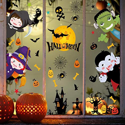 heekpek Halloween Pegatinas de Ventanas y Escaparate