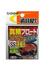 ささめ針(SASAME) P-232 道具屋 真鯛フロート ツヤケシBK S