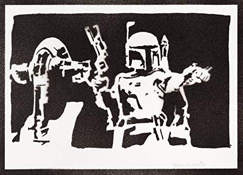 Poster Boba Fett Esclavo I STAR WARS Grafiti Hecho a Mano - Handmade Street Art - Artwork