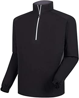 Footjoy Golf HydroKnit Pullover (Black/Charcoal, Medium)