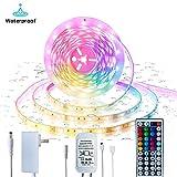 Inscrok 16.4ft LED Light Strips 5050 RGB Waterproof LED Strip Lights for Bedroom,Aesthetic Room Decor, Home Decorations