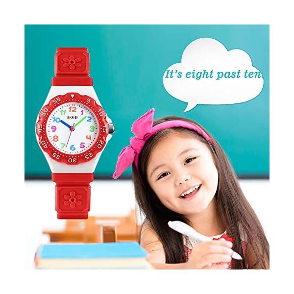 CakCity Kids Watch Waterproof Cute Cartoon Analog Quartz Girls Boys Wrist Watch for Toddler Birthday Time Teacher for Children 3-10 Year