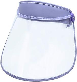 Tomaibaby Azul Protector Facial Transparente de Cara Cocina Mascarilla Doble Cara Anti-Vaho Salpicadura Protector Herramienta de Gadget de Cocina
