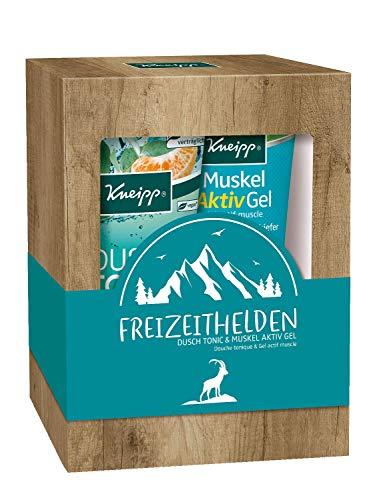 Kneipp Geschenkpackung Freizeithelden – Dusch Tonic & Muskel Aktiv Gel - 1er Pack (2 x 200 ml)