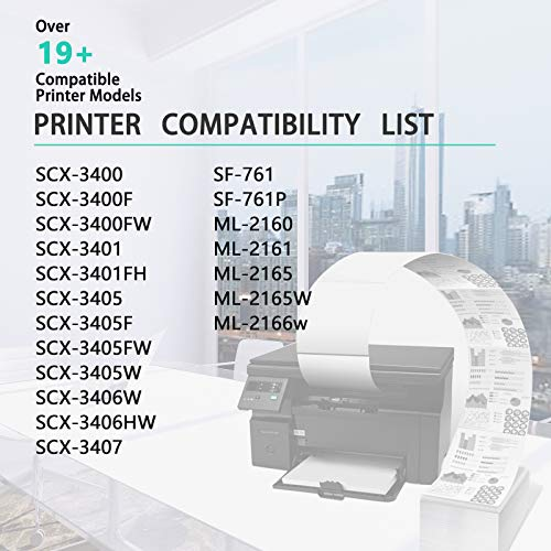 Nineleaf Compatible Toner Cartridge Replacement for Samsung 101S MLT-D101S Black for ML-2165W SCX-3405FW SF-760P ML-2160 ML-2165W 1 Pack Photo #4