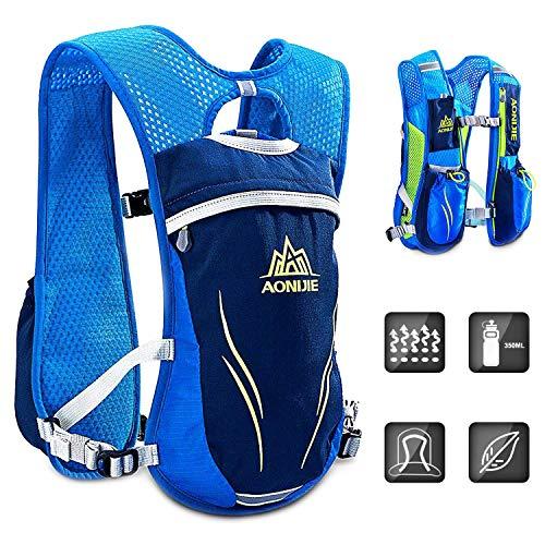 HINATAA Hydration Pack Backpack,5.5L Running Hydration Vest Marathon Running Vest for Women and Men Lightweight Trail Running Backpack (Blue)