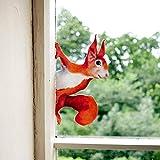 1 Stück Fenster Aufkleber, Tier Voyeur Serie Stickers, Fensteraufkleber zum Schutz gegen Vogelschlag Fensterdeko Window Sticker Fenstersticker Fensterfolie (Eichhörnchen)