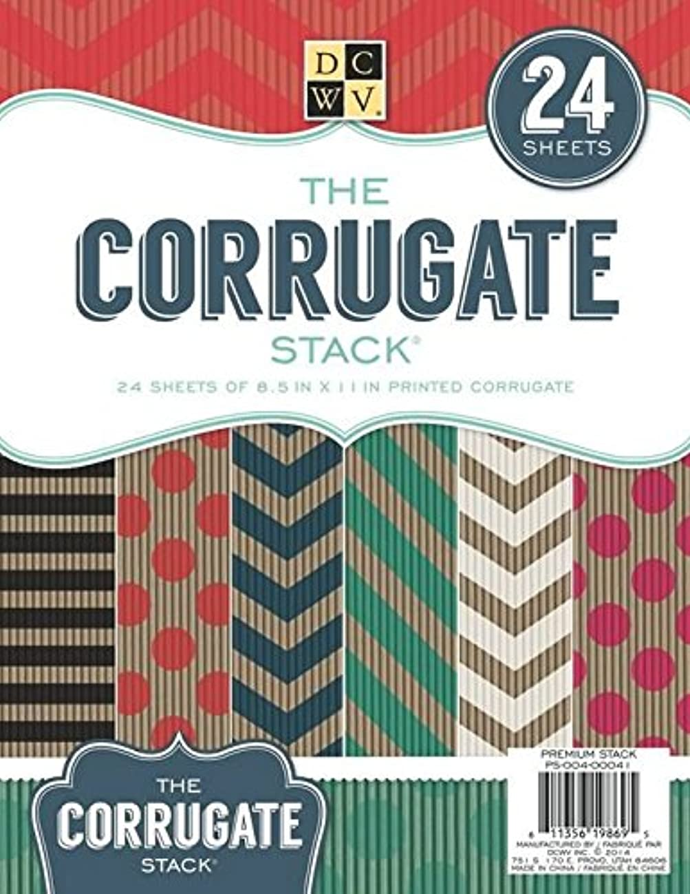 Die Cuts with View 8.5 X 11-inch Paper Stack Printed Corrugate, Multi-Colour