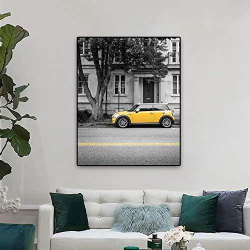 Póster de arte moderno nórdico decoración de pared fondo gris acentúa tonos amarillos lienzo pintura hogar sala de estar dormitorio decoración 50x70cm sin marco