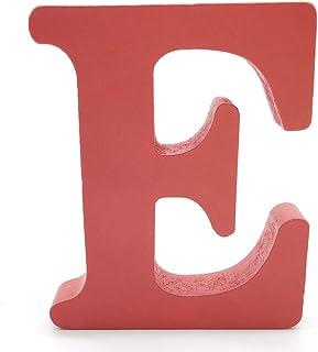 Lettres en Bois, Toifucos 10cm A-Z DIY Alphabet Anglais Ornaments D'artisanat pour Accueil Mariage Anniversaire Décoration...