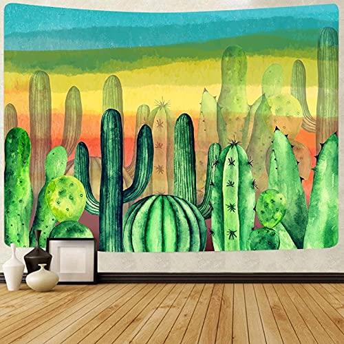 Cactus Del Desierto Tapiz De Pared Psicodélico Pared Tapices De Pared Tapiz Místico Indio Bohemio Decoración Pared 150X200Cm