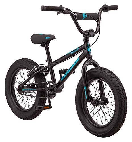 Mongoose Argus MX Toddler Fat Tire Mountain Bike, 16-Inch Wheels, 3-Inch Wide Tires, Black