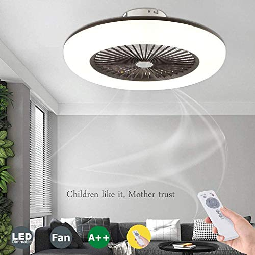 bon comparatif Ventilateur de plafond WJJH avec éclairage et télécommande.  Luminosité réglable.  Vitesse du vent … un avis de 2020