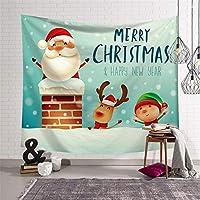 クリスマスツリービッグ2020タペストリーサンタクロース壁掛けハンギング布装飾布のクリスマスイブのホームインテリアハッピーニューイヤー (Color : 15, Size : 150CM x 130CM)