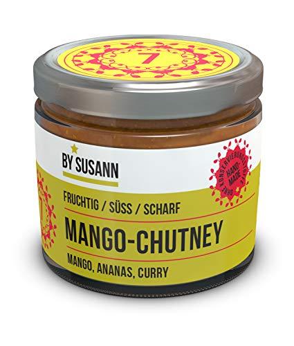 BY SUSANN - 07 MANGO-CHUTNEY im Glas (1 x 150 g), Geschmackserlebnisse mit intensiven und natürlichen Aromen, fruchtig, süß, scharf