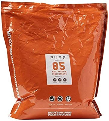 Bodybuilding Warehouse Pure Milk Protein Concentrate 85 Powder (Chocolate, 2kg)