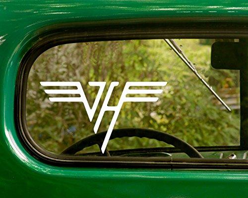2 VAN HALEN Decal Rock Band Stickers White Die Cut For Window Car Jeep 4x4 Truck Laptop Bumper Rv