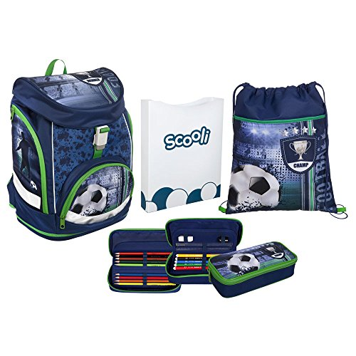 Scooli Twixter UP Schulranzen-Set 4-tlg Football FCPR football
