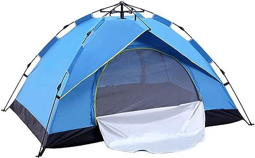 BAOFI Tente de Camping 3 Personnes, Imperméable Plage Randonnée Légère Anti UV Pliable Etanche Instantanée Pop Up Familiale Tentes Ventilée, Bleu,2People