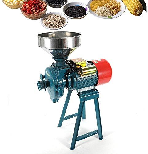 2 200 W elektrisk kvarn högpresterande kommersiell kvarn torrkvarn spannmål majskorn kaffe vete matningsmaskin med tratt, C