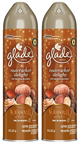 Glade Air Freshener Spray - Nutcracker Delight - Net Wt. 8 OZ (227 g) Per Can - Pack of 2 Cans