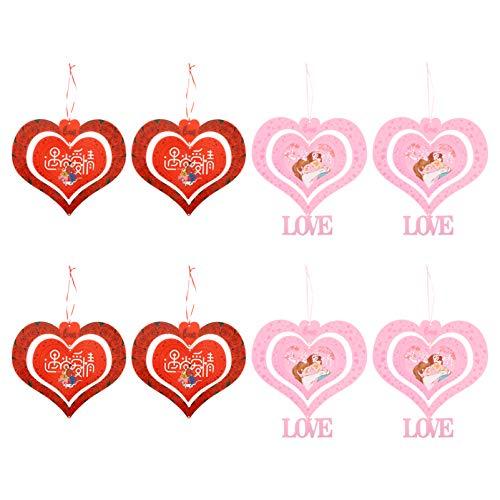 BESPORTBLE 10 Adet Sevgililer Günü Asılı Kolye Kalp Şeklinde Asılı Süs Ev Dekor