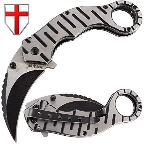 Grand Way Folding Karambit Knife - Best Pocket Karambit Claw Knives - Spring Assisted Karambit - Top Csgo Tactical Carambit 86051