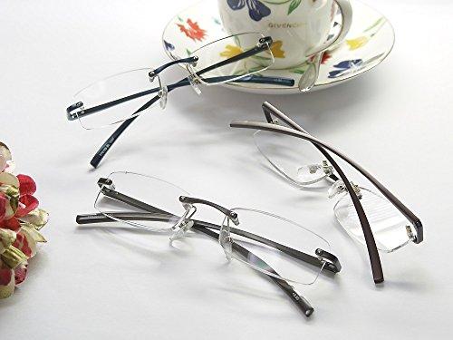 老眼鏡 高級アルミフレームシニアグラス おしゃれな男性用・女性用 77019S (+2.00, ブラウン)