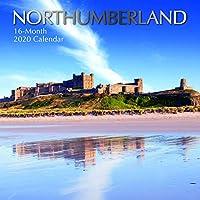 2020 ウォールカレンダー ノースアンバーランド 12 x 12インチ マンスリービュー 16ヶ月 180リマインダーステッカー付き