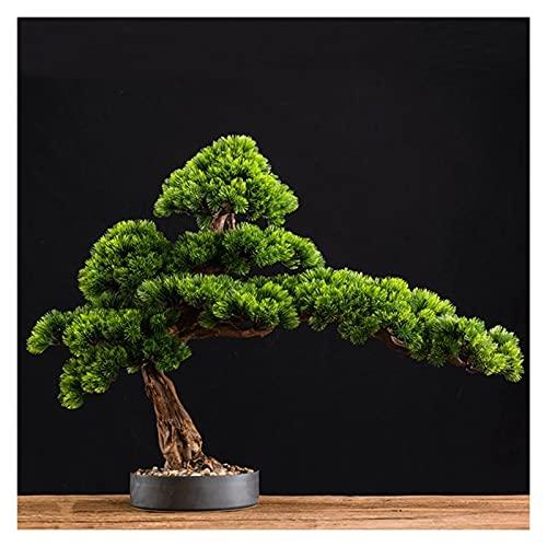 Artificial Bonsai 15 pulgadas Bonsai Artificial Bonsai Boicing Pine Tree, Simulación Potted Plant Creativity Bonsai, Pot del árbol falso Se utiliza para la entrada de la sala de estar Plantas Macetas
