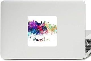 Houston America City Watercolor Decal Vinyl Paster Laptop Sticker PC Decoration
