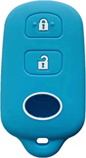 Rpkey Silicone Keyless Entry Remote Control Key Fob Cover Case protector For Scion xA xB Toyota Celica Echo FJ Cruiser Highlander Prius RAV4 Tacoma Tundra Yaris HYQ12BBX HYQ12BAN 89742-42120(Wathet)