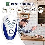 Repellente per Parassiti ad Ultrasuoni Collega L'Interno Repellente per Topi E Ratti Repellente Antiparassitario per Topi Zanzara Formiche Ragni Pulci di Ratto Termite, Confezione da 4