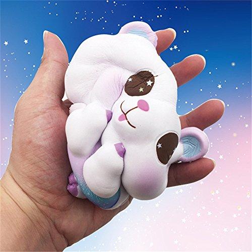 Vaycally Muñecas, Super Lovely Lamb Squishy Super Jumbo Aroma lento aumento raro divertido juguete rompecabezas, super lindo cordero super lento rebote simulación Pu juguete, juguete squishy
