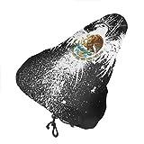 YaYaTop Housse de siège de vélo,Drapeau Mexicain en Forme d'aigle Housse de Selle de vélo résistante à la poussière avec Cordon de Serrage