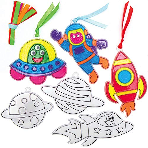 Baker Ross AX179 Atrapasol Sistema Solar - Paquete De 10, Para Que Los Niños Diseñen, Decoren Y Exhiban, Creativo Juego De Manualidades De Verano, Proyectos De Manualidades Y Artes Ideales Para Niños