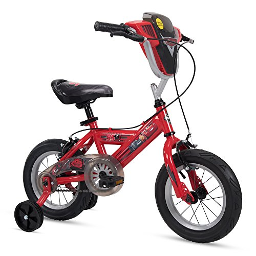 """Huffy 12"""" Disney/Pixar Cars Boys Bike with Lights and Sounds Shield, Red -  The Huffy Bicycle Company, 72108"""