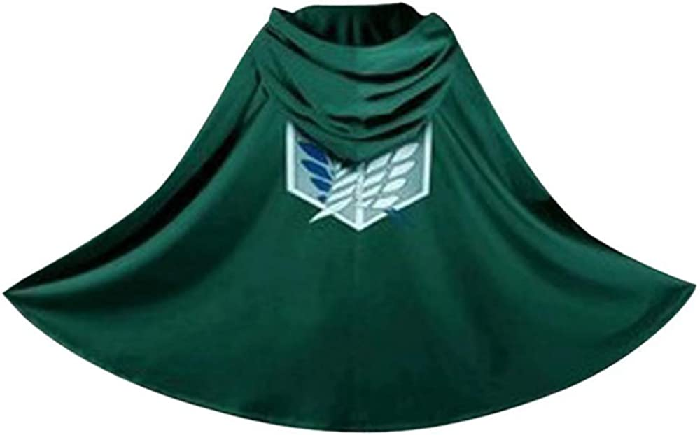 Cosplay Anime Attack on Titan Shingeki No Kyojin Cloak Cape with special necklace