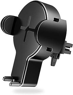 شاحن سيارة لاسلكي، شحن سريع بتعليق تلقائي 360 درجة مع حامل هاتف السيارة متوافق مع جالاكسي S10 / نوت 9 / S9 / S8 / نوت 8 اي...