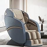 Poltrona da massaggio, massaggio completo a doppia pista S+L, sistema di massaggio a pressione airbag Shiatsu, riscaldamento della schiena, altoparlante Bluetooth (B-Blue)