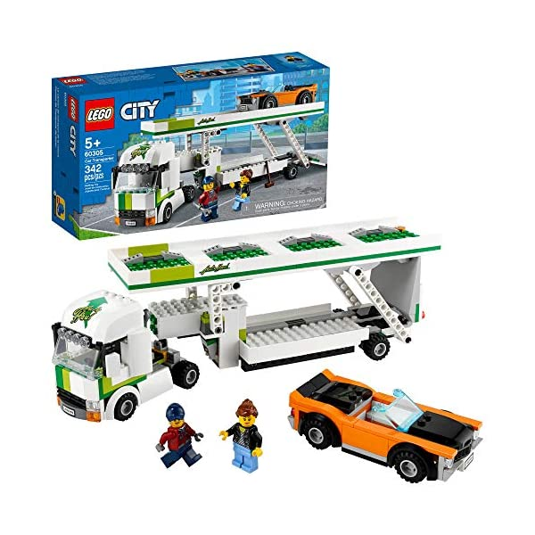LEGO City Car Transporter 60305 Building Kit; Toy Playset for Kids, New 2021 (342...