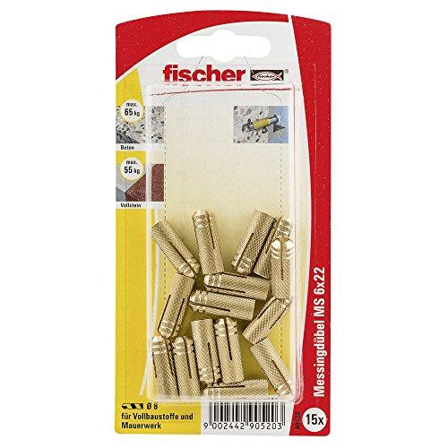 Fischer Messingdübel MS 6 x 22 K SB-Karte, 090520